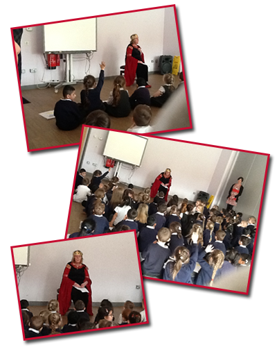 Year 1 students learning about the Queen and The Royal Family as part of British Values